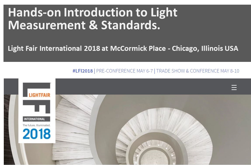 GL Optic workshops at the LFI 2018