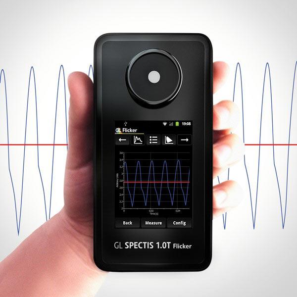 flicker measurement pomiar tętnienia spectrometer spektrometr