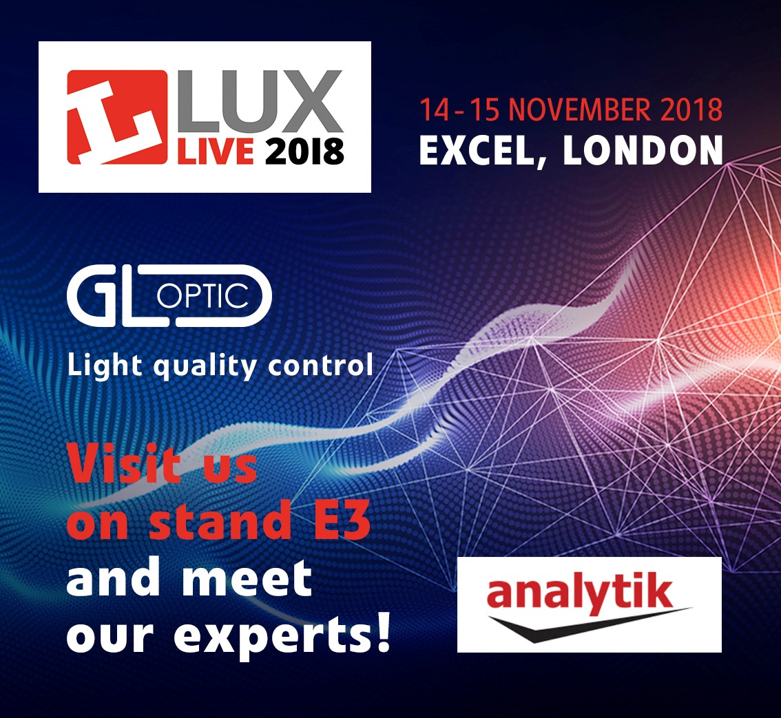 GL Optic at the LuxLive 2018