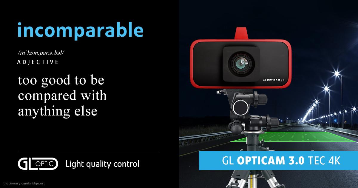 gl opticam 3.0 luminance meter luminance measurements on the roads area lighting verification