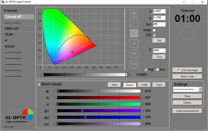 GL Opti Light Control Professional Software